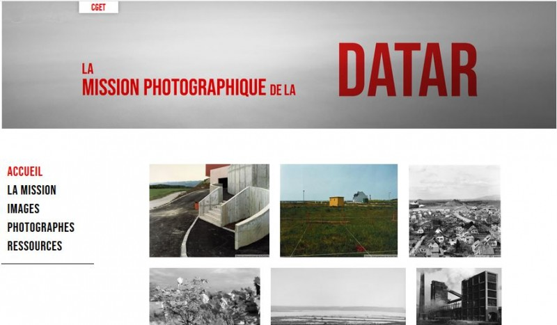 Home du site de la mission photographique de la DATAR